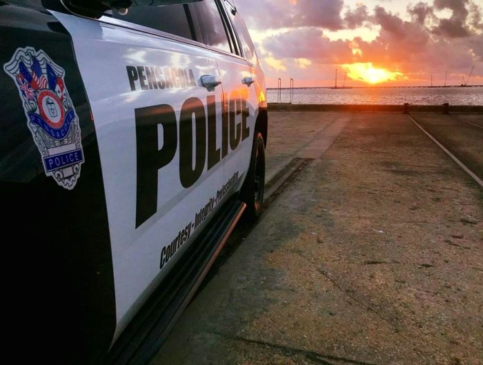 Pensacola Police at the Port of Pensacola.
