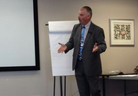 John Espley teaching networking skills to Human Resource Professionals