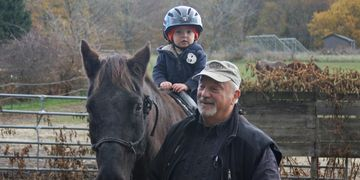pony rides at an annual fall festival at horse play rescue