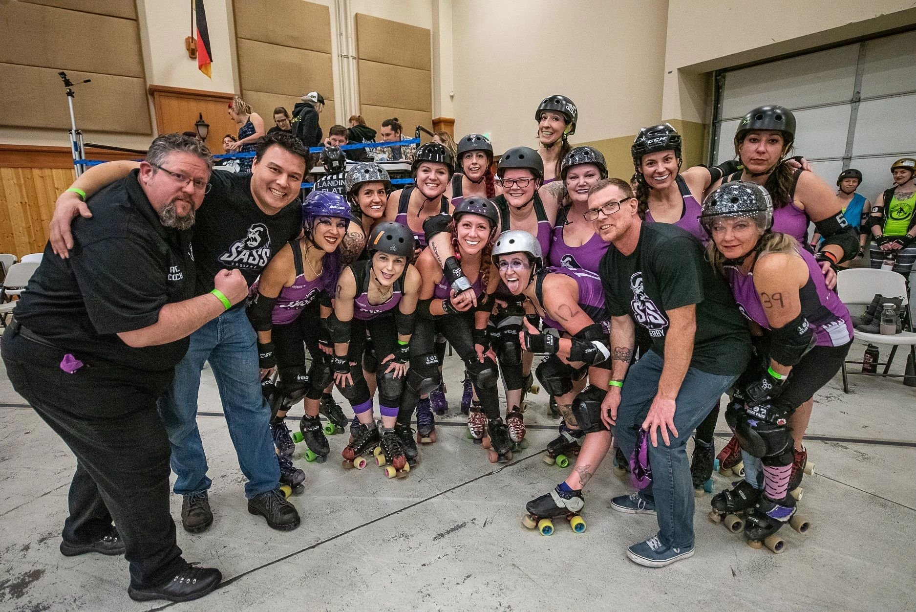 The SASS celebrate a victory at 2019 Bruisefest