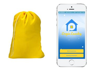 Loopie Laundry Application, Loopie Laundry Reusable nylon laundry bag.