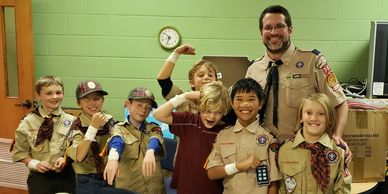 Webelos scouts den meeting
