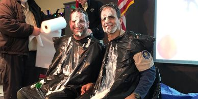 cub scout leaders pie in face