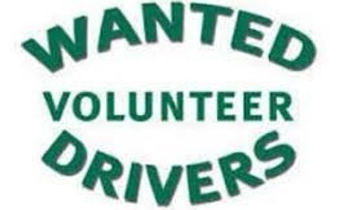 Wanted sign for volunteer drivers