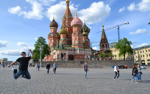 Me in Red Square on my trip to Moscow, May 2015