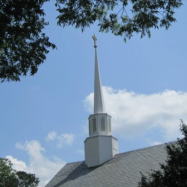 Steeple of St. Luke's Episcopal Church in Blackstone, VA