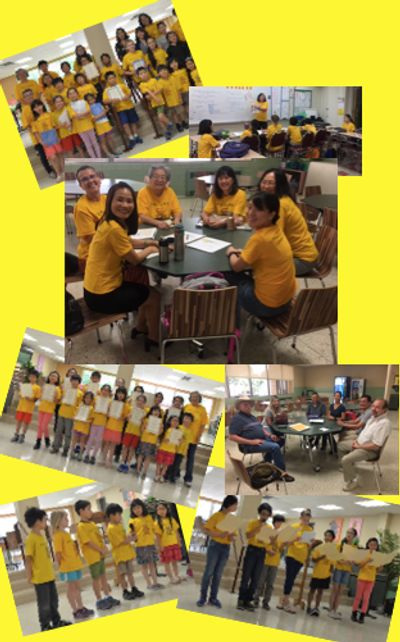 Photo collage of San Antonio Chinese School teachers, students and activities
