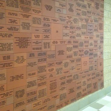 wall of red clay tiles