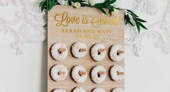 personalized donut wall