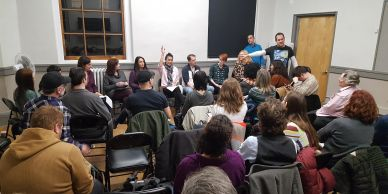 Playwrights hear works in progress and receive feedback in a safe and supportive environment.