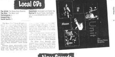 """The Moon Unit"" gets a rave review in the Newsday's Nightbeat... ""You won't believe this disc was"
