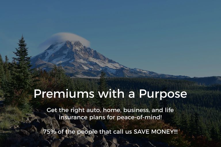 Mt. Hood pic Portland, Oregon w/txt Get the right auto, home, business, & life insurance plans.