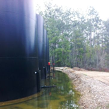 Tank farm that AK Utilities provided the private utility locates for in TEXAS Oil and Gas industry