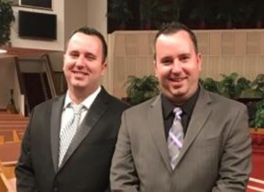 A photo of identical twin owners Brady and Byron Stanga.