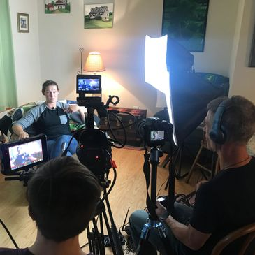 Hudson Valley filmmakers interviewing Anna Williams.