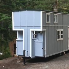 image of gray tiny home