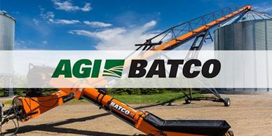 AGI Batco logo for portable belt conveyors and field loaders in Texas