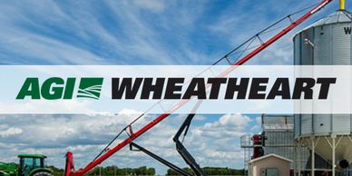 AGI Wheatheart logo for self propelled portable grain augers resources