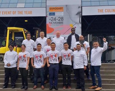 Ravisi as Design Partners with TeamUKCC in the World Culinary Cup in Luxembourg in the year 2018