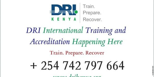 Disaster Recovery Institute  (DRI)  International Now in East Africa. Call Now To Train @ +254 742