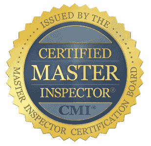 CMI Certified Master Inspector blue and gold logo