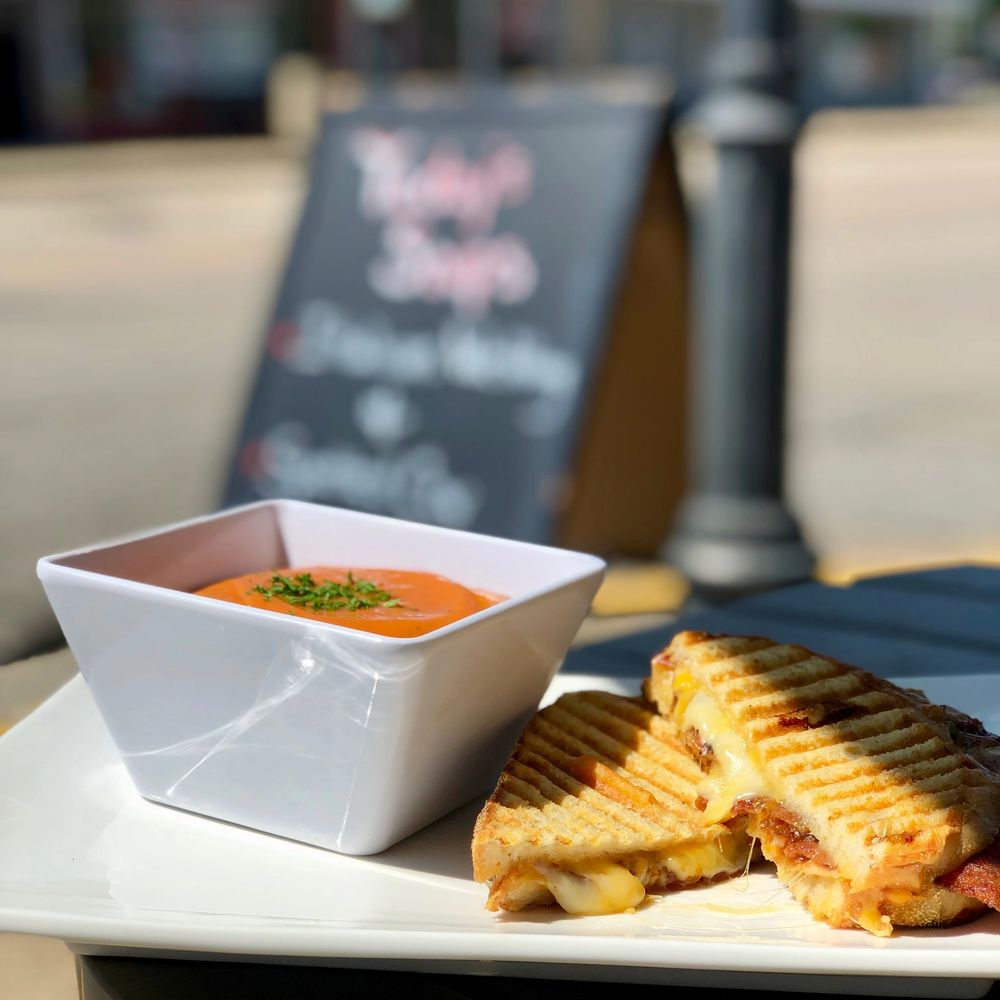 Grown-Up Grilled Cheese & Tomato Basil Soup - Friday Special