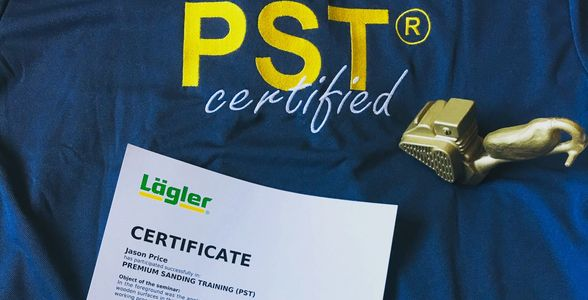 Lagler PST certificate for hardwood floor refinishing