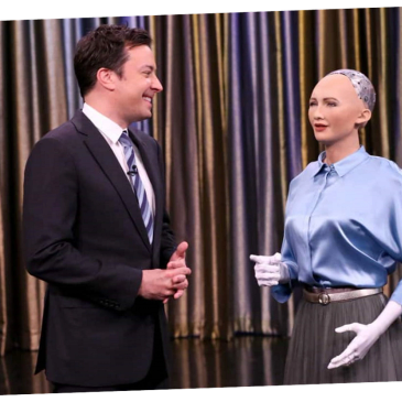 Robot Sophia on the Tonight Show