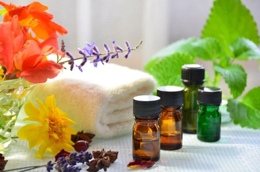 Picture of essential oils used during massage at Nirvana Asian Massage in Tacoma, WA.
