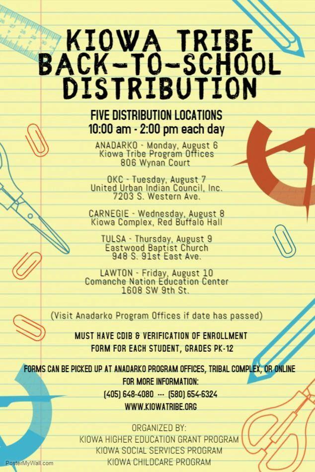 Kiowa Tribe Back-To-School Distribution