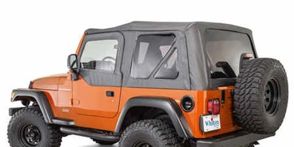 Whitco TJ Jeep Wrangler Soft Top with door skins