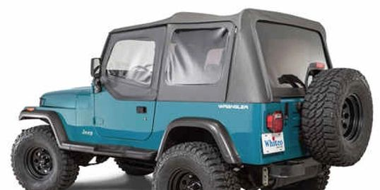 Whitco YJ Jeep Wrangler Soft Top with door skins