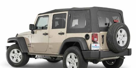 Whitco JKU 4 door Jeep Wrangler Soft Top without door skins