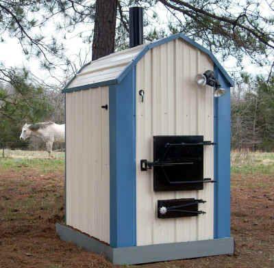 outdoor wood furnace boiler stove 100 refurbished with warranty ebay. Black Bedroom Furniture Sets. Home Design Ideas