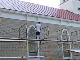 Exterior restoration of Mitchells Presbyterian Church, Mitchells, VA