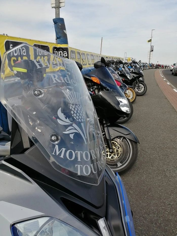46 Bikes with 49 People at the 2019 North West 200 Tour.  Our Bikes as far as the eye can see.