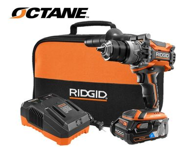 Ridgid Octane hammer Drill kit with 3amp battery and charger
