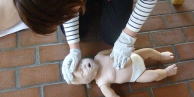 Red Cross Infant CPR certification for Girl Scouts
