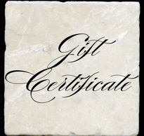 Gift Certificates for sublimation printing on natural marble coasters