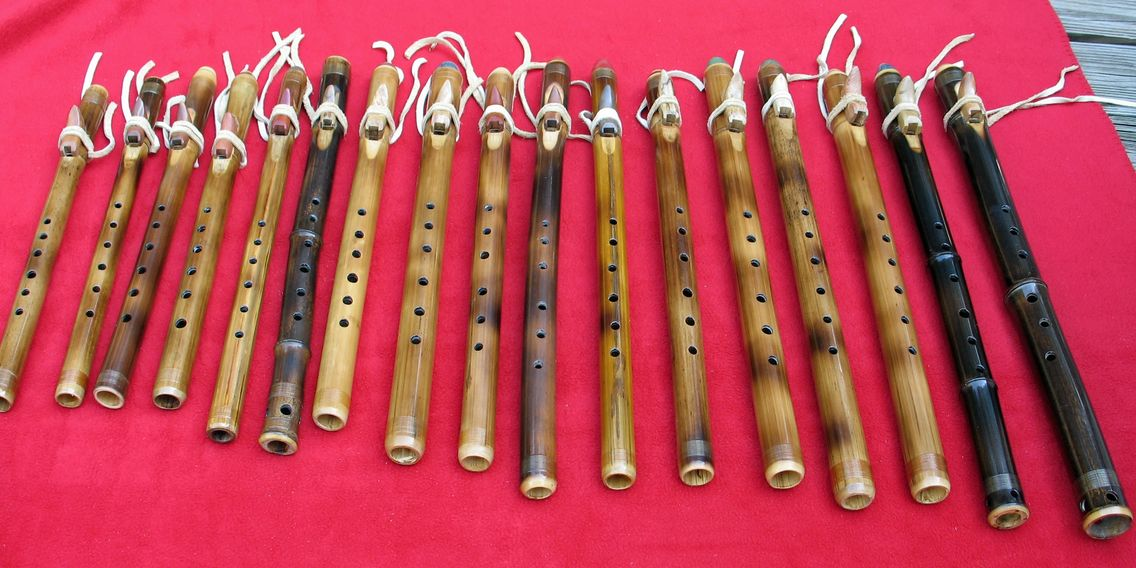 image of flutes made by Jim Gilliland