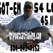CAPT JIM HOLDING A 54LBER