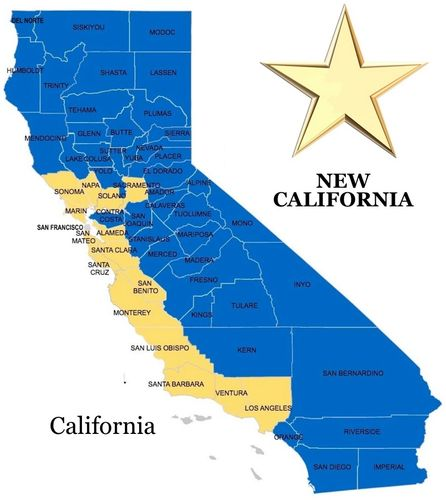 NEW CALIFORNIA MAP New California - California counties