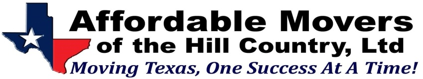 Affordable Movers of the Hill Country, Ltd