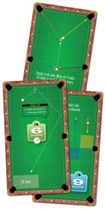 Mike Massey Advanced Series pool playing cards offer seriously fun, challenging, advanced lessons.