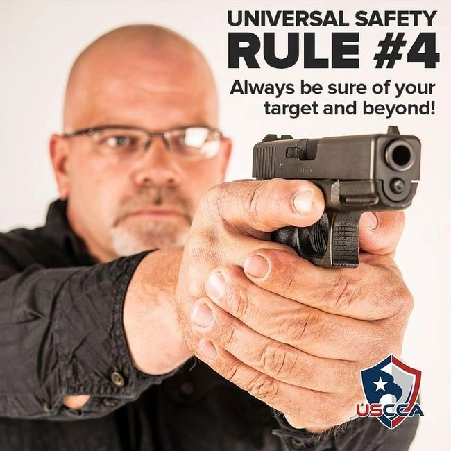 Four rules gun safety Identify your target and what's behind it never shoot at what you haven't ID