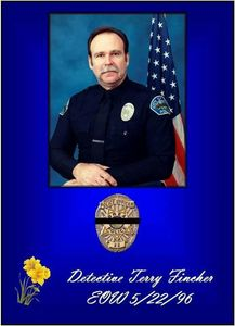 Brea Police Department: In Memory of Detective Terry Fincher Friend Brother Mentor