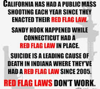 Mass Shootings every year in California since Red Flag Gun Law enacted Red Flag Laws do not work