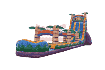27 high tiki plunge water slide