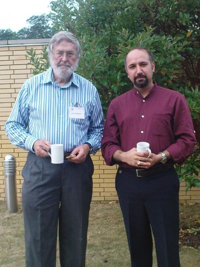 With Dr John Bancroft, July 2010, Oxford.