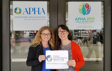 Heidi West & Maja Milkowska at APHA American Public Health Association Meeting, Global Health